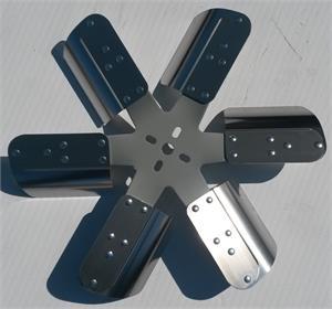Flex A Lite Flex Fan 17 1 4 Quot Diam 6 Blade With Gray Hub